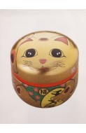 Lucky Cat Tea Caddy 100g - Gold